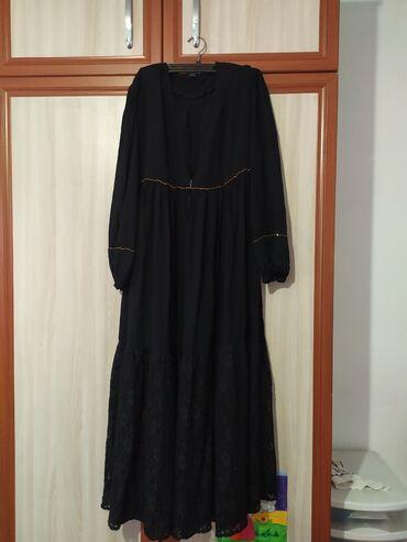 черное длинное платье в Кыргызстан: Продаю платье,чёрноедлинное.Качество хорошее,размер 44.Цена:100 сом