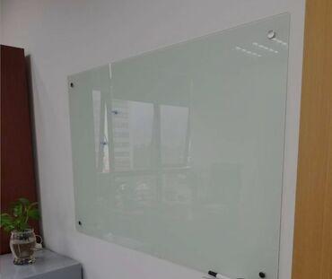 Маркерная доска из закалённого стекла. Индивидуальный размер. Стекло