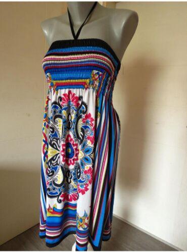 Sarena haljinica uniLagana haljinica koja se ne guzva, vezuje se