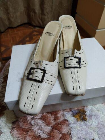 Продаю женские туфли-босоножки,сабо,кожа, бежевый цвет, каблучок-8см