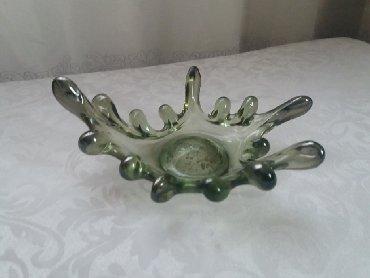 Ваза цветное стекло. Медуза. Советская