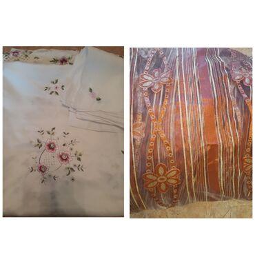 bdm club платья в Кыргызстан: Скатерть с салфетками(12 шт) и тюль, в хорошем состоянии