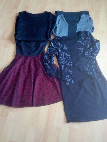 Cetiri haljine za 1000 din.Univerzalne velicine moze za S/M