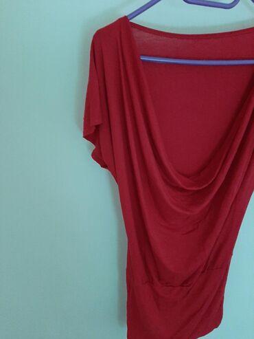 Italijanska crvena bluza tunika. Vel M. Materijal od Viscose sa