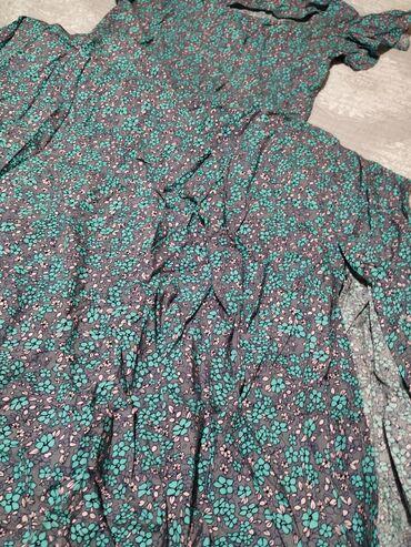 Очень красивое платье с цветочным принтом, купила размер меньше стало