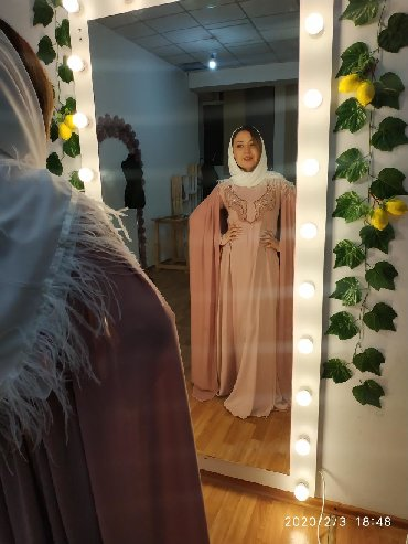Платье на никахСвадебное платьеНовое платьеФранцузская вышивкаРучная в Бишкек