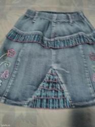 Teksas suknja za devojčicu 6-8 godina. - Pancevo