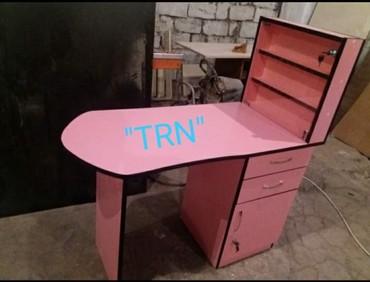 Bakı şəhərində Salon mebeli manikur masasi sifarişle yiğilir istediyiniz rengde ve