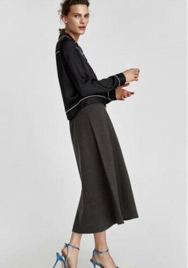 Zara юбка миди силует