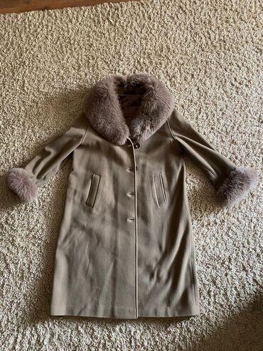 пальто лама в Кыргызстан: Продаю пальто. Натуралка, Мех лама, мех съемный. Англи самый воротник