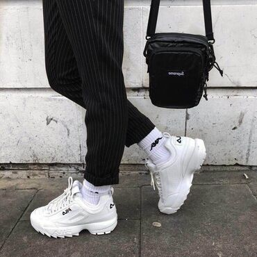Fila disruptor sneakersWhite and black availableFor women and menFree