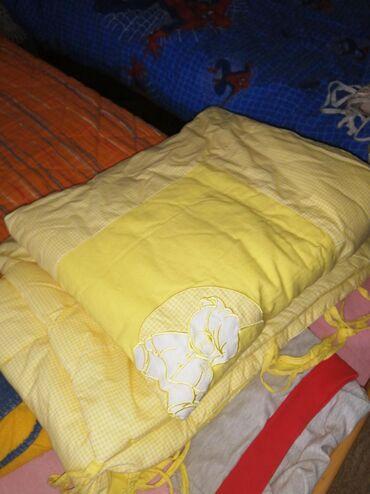 Za decu - Backa Topola: Ogradica za krevetic plus jorgan i jastucic,kao novo