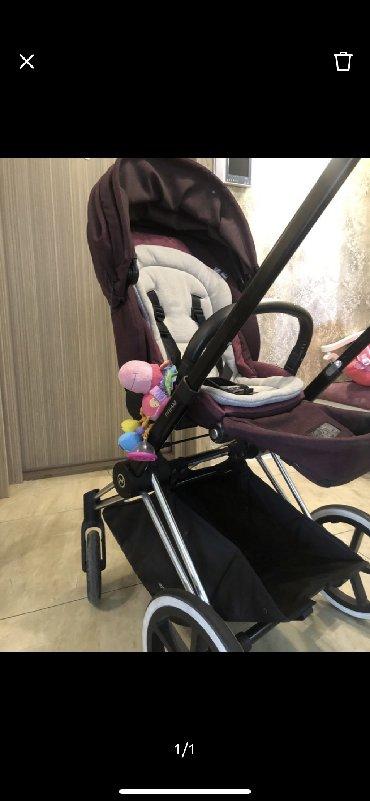 Продаётся коляска Cybex Priam lux фиолетового цвета пользовались н