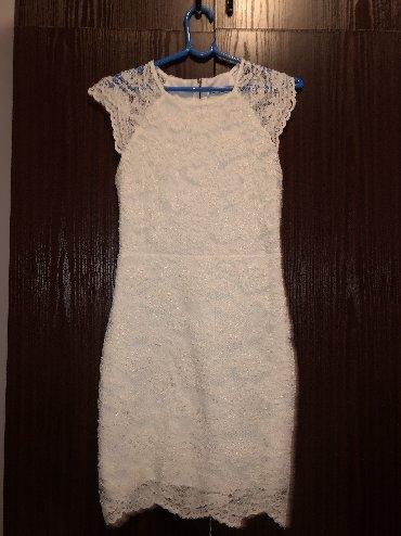 Haljina-cipkasta - Srbija: Bela cipkasta haljina,za sve prilike. broj M