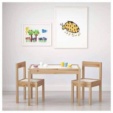 🥰NAJPRODAVANIJI SET🥰Deciji sto sa 2 stolice od borovog drveta✔Proizvod