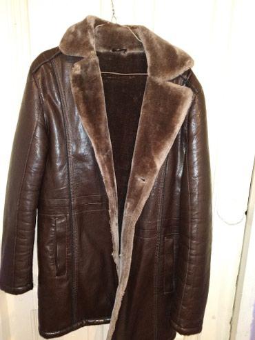 Мужские пальто в Кыргызстан: Дублёнка кожаная в отличном состоянии размер: 48 цвет