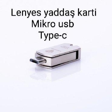 micro-sd - Azərbaycan: Original Lenyes firmasi mikro usb ve type-c yaddas kartlaritelefon ve