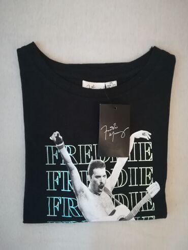 Men's T-shirts - Srbija: Muska majica, crna sa natpisom, Freddie Mercury, original po licenci