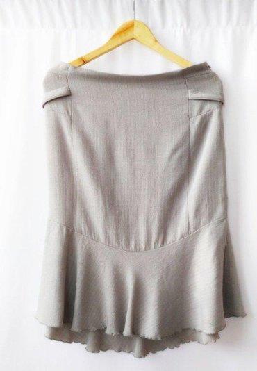 Подчеркивающая бедра юбка серая mango, размер евро 44 (наш 48) в отлич