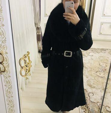 маленькое черное платье для полных в Кыргызстан: Длинная дубленкаиз натуральной кожи . С ремнём. Размер 42-44