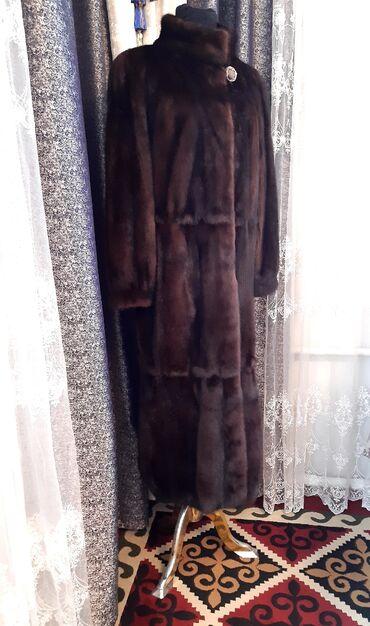 слип без рукавов в Кыргызстан: Норковая шуба фабрики РУССКИЙ МЕХ.Размер: L.XL (48-50-52)Состояние