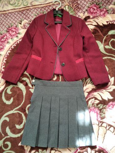 Детская одежда и обувь - Кыргызстан: Школьная форма в очень хорошем состоянии даже катышек нет, размер 32