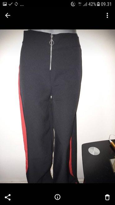 Pantalone sa - Srbija: Pantalone nove sa belom i crvenom trakom sa strane