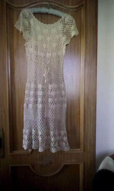 σε Φιλιατρά: Φορεμα κροσε μπεζ. νατουραλ.,. χρωμα αφορετο επικ.4-9μ.μ