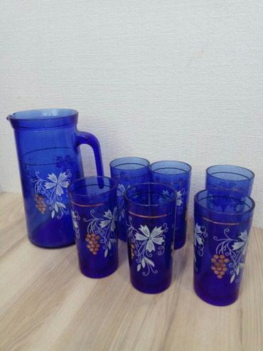 Графин и 6 стаканов. Хорошего качества. в Бишкек