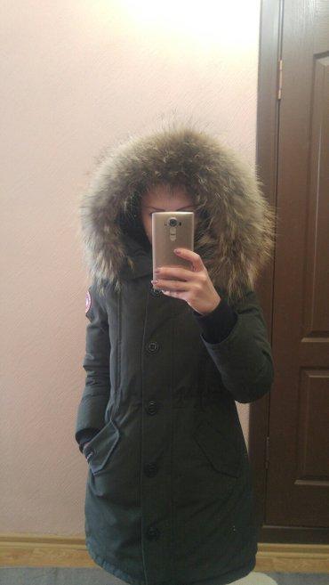 продаю новую парку-пуховик с натуральным мехом canada goose. теплая, с в Бишкек