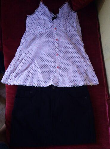 Clio - Srbija: Suknjica i majica teranova S vel ima elastina Potpuno Novo nenoseno