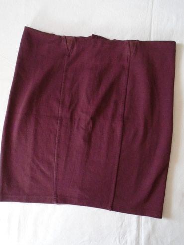 Suknja sl - Srbija: Dva - tri puta nošena suknja od punijeg pamučnog materijala, pogodnog
