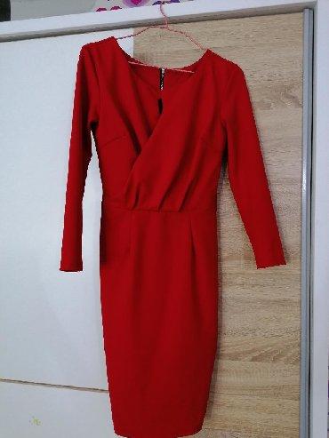 Crvena plisana haljina - Srbija: Crvena haljina S veličina