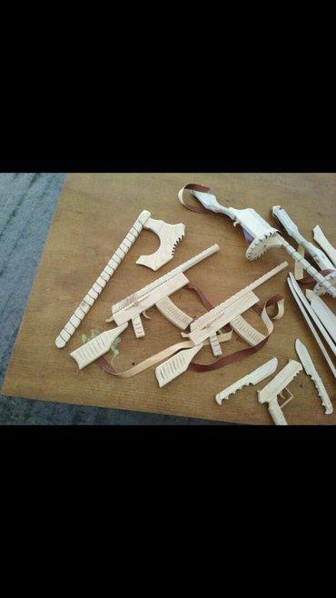 Детские игрушечные орудия из дерева... в Бишкек