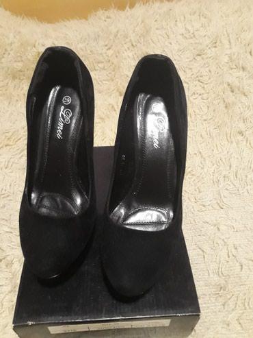 Crne kao nove cipele jednom nosene 39 br.visina stikle 15 - Pancevo