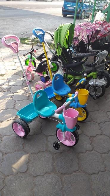 детский трехколесный в Кыргызстан: Детские трехколесные велосипеды с управлением пр Россия есть доставка