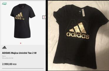 Adidas majica, naznacena XS velicina, mislim da bi odgovarala i S.Sa