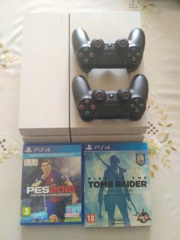 геймпад для гонок в Кыргызстан: PS4 Fat + 2 оригинальных геймпада DS4 (неделя с покупки) + все комплек