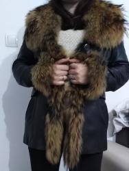SANPAULI LEATHER jakna sa prirodnim krznom od rakuna, dobro očuvana - Backa Palanka
