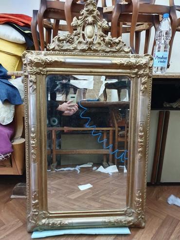 Ogledalo sa pozlatom. Bidermajer replika. - Belgrade