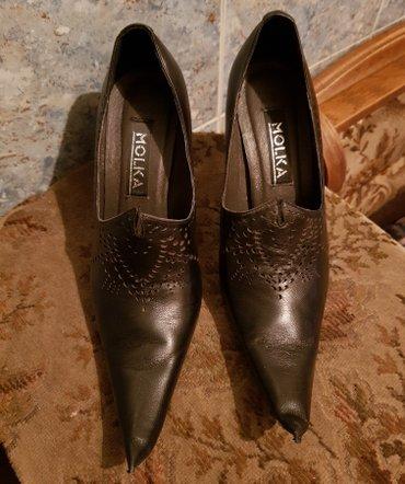 Туфли, натуральная кожа, цвет чёрный, размер 35, б/у в Бишкек