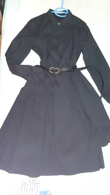 Crna PIECES haljina, prelepo stoji pamuk i 5% likre. Moze se