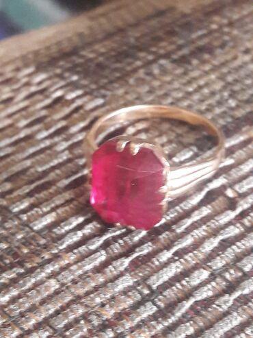 Продаю золотое советское кольцо с рубином 583 проба. Вес кольца 4