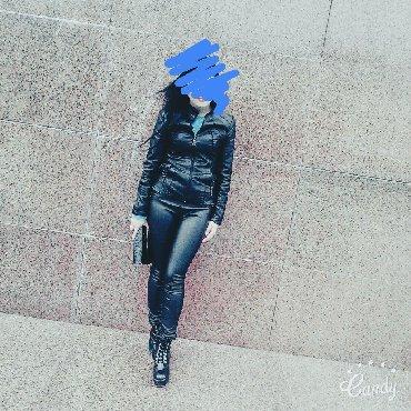 женские-брюки-черные в Кыргызстан: Кожаные штаны пиджак и обувь в наличии