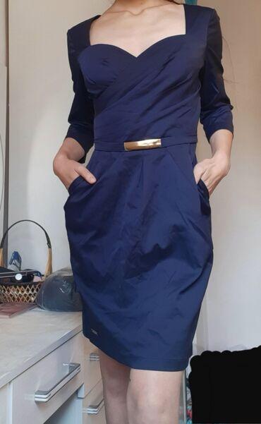 вечернее платье темно синего в Кыргызстан: Продаю!!! Платье вечернее с декольте.  Можно на повседневку, так и на