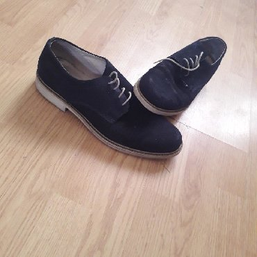 Muske cipele od prevrnute koze,teget boje br 43