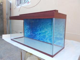 Bakı şəhərində Wook endirim 100 litrelik akvarium yari qiymetine  6 mml wuwenin