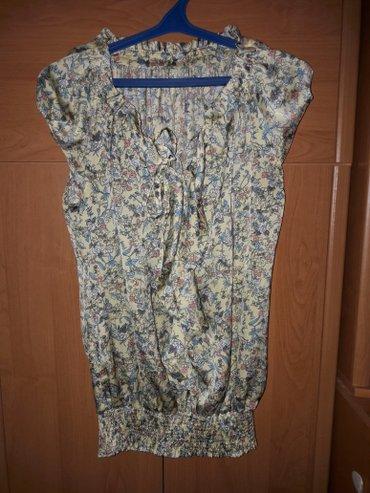 туника желтая в Кыргызстан: Блузка легкая, материал типа шелка, размер 44. подойдет и беременным
