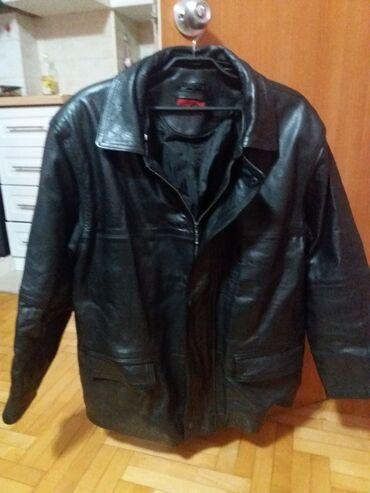 Muska kozna jakna - Srbija: Prodajem musku jaknu od prirodne koze.Jakna je ocuvanu i bez