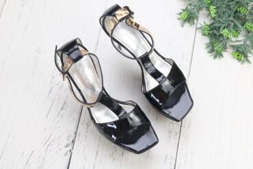 женские босоножки на широкую ногу в Азербайджан: Лаковые босоножки женские Casadei,р 9 Бренд: Casadei Цвет: черный Выс